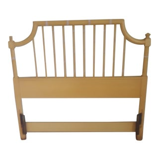 20th Century Chinoiserie Thomasville Twin Faux Bamboo Pagoda Headboard For Sale