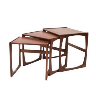 1960s Danish Modern G Plan Teak Wood Nesting Tables - Set of 3 For Sale