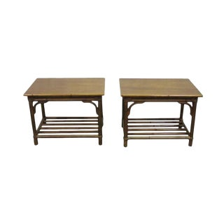 Mid-Century Wood End Tables - A Pair For Sale