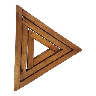 Antique English Wooden Triangular Trivets For Sale