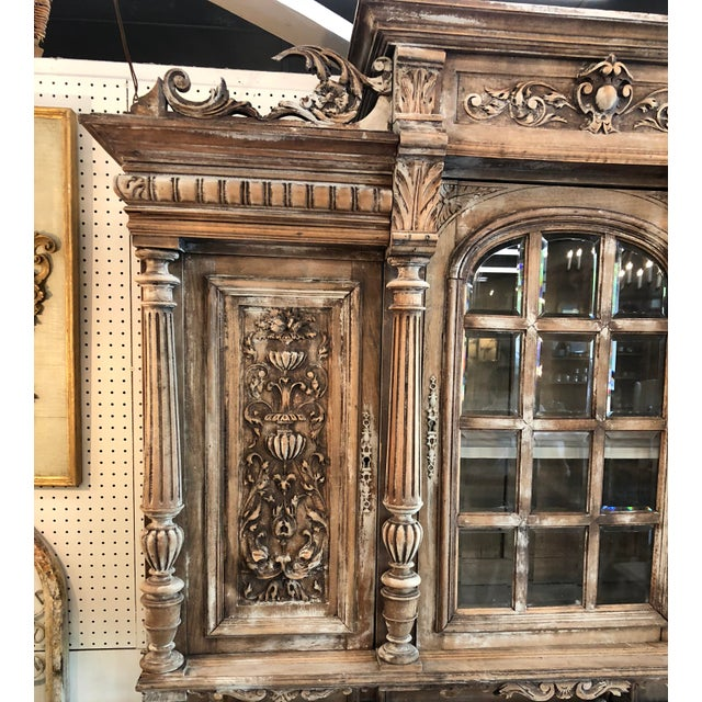 French 19th C. French Henri II Renaissance Revival Buffet & Hutch For Sale - Image 3 of 13
