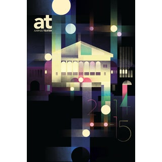 Mads Berg 'Aarhus Teater' Retro Danish Poster For Sale