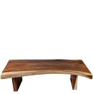 Organic Modern One Slab Living Edge Coffee Table For Sale