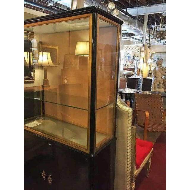 Fine Maison Jansen Style Ebonized Louis XV Style China Cabinet ...