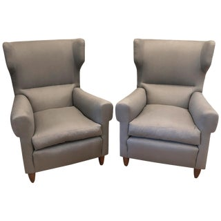 Pair of Gio Ponti Style Armchairs For Sale