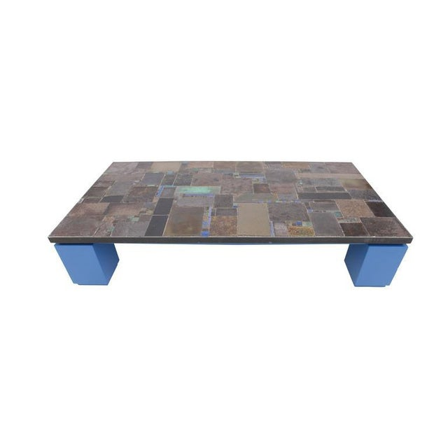 Ceramic Pia Manu One-of-a-kind Ceramic Tile Coffee Table For Sale - Image 7 of 10