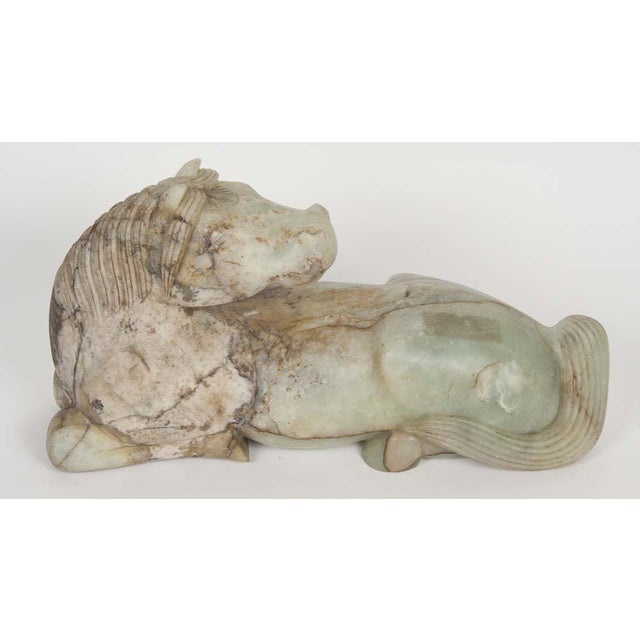 Chinese Early 20th Century Chinese Jade Horse For Sale - Image 3 of 8