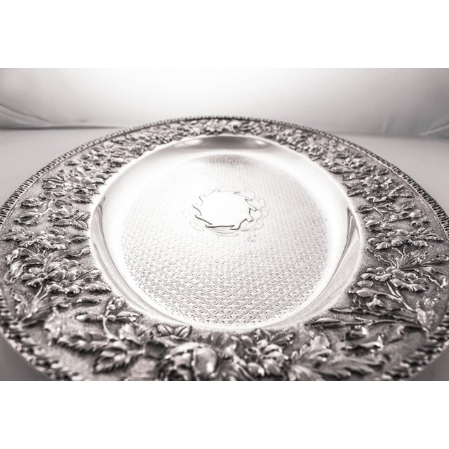 Mid 19th Century Sterling Repousse Tray For Sale - Image 5 of 7