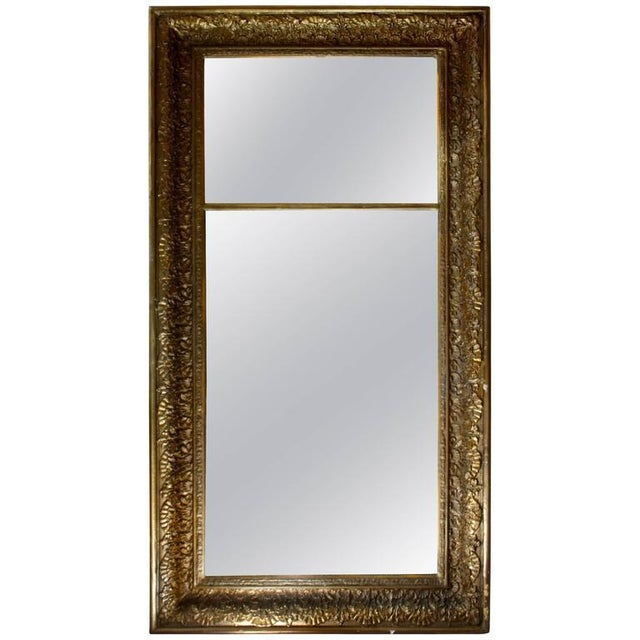Traditional Late 18th Century Antique Giltwood Floor Mirror For Sale - Image 3 of 4