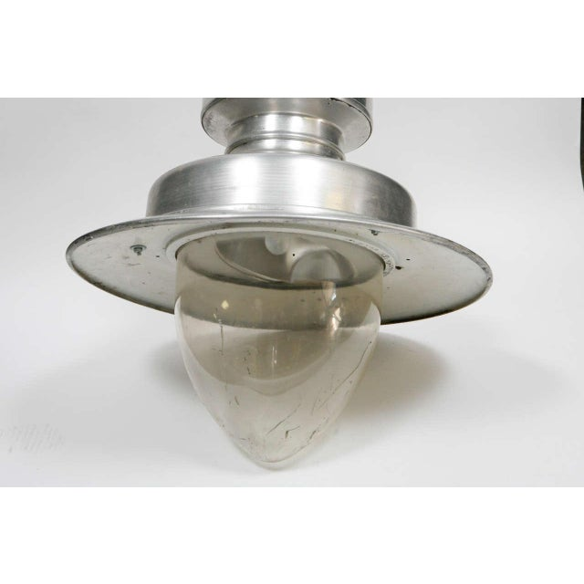 1920s Early 20th Century Industrial Hanging Lamp From England For Sale - Image 5 of 8