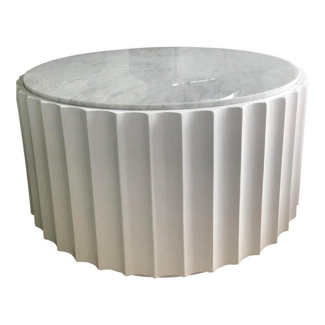 Contemporary Chic Marble/Lacquer Modern Cocktail/Coffee Table For Sale In San Francisco - Image 6 of 6