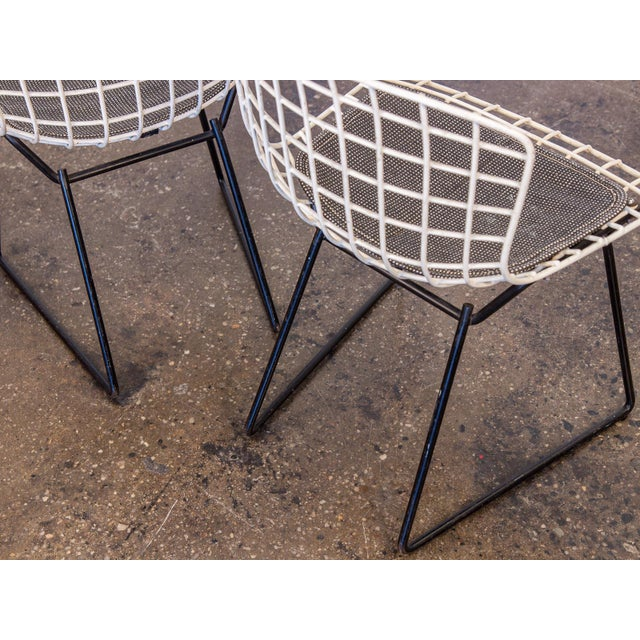 Metal Baby Bertoia Chairs - a pair For Sale - Image 7 of 9