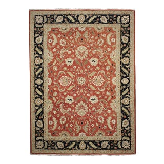 Flat-weave Floral Sumak Red Kilim For Sale