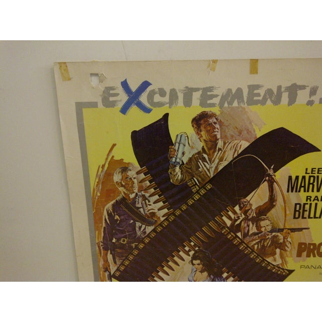 "Mid-Century Modern Vintage ""The Professionals"" 1966 Movie Poster For Sale - Image 3 of 5"