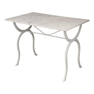 French 19th Century Marble-Top Bistro Table For Sale