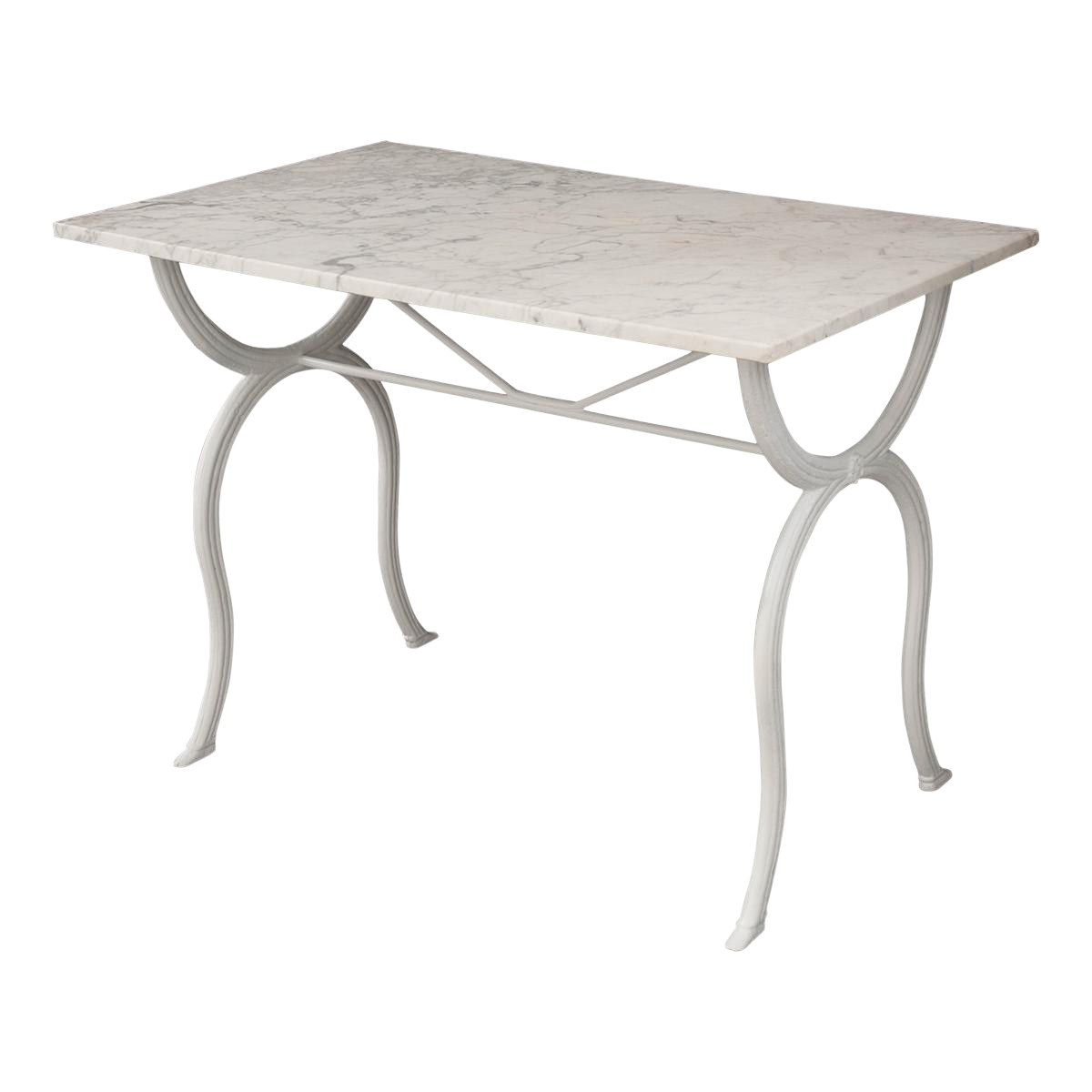 French 19th Century White Marble Top Bistro Table