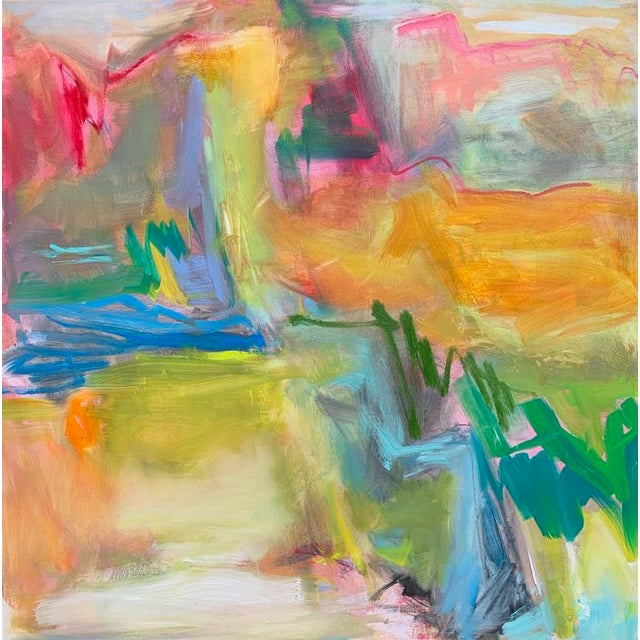 """""""Desert Rain"""" by Trixie Pitts Large Abstract Oil Painting For Sale - Image 9 of 10"""