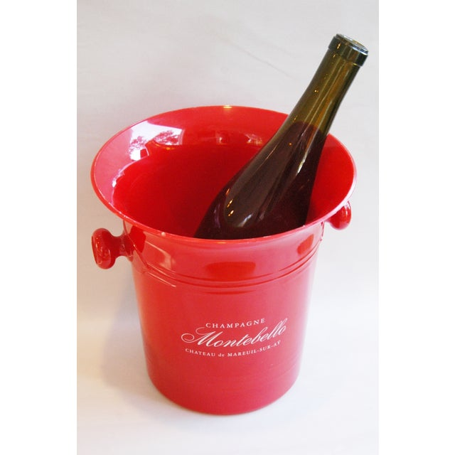 Plastic Vintage French Montebello Ice Bucket For Sale - Image 7 of 7
