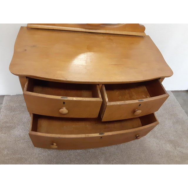 Early 20th Century Maple Vanity Dresser For Sale In Los Angeles - Image 6 of 8