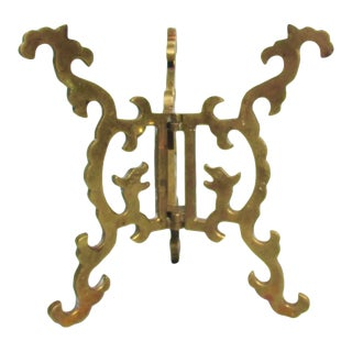 Antique Chinese Bronze Tripod Stand Foldable For Sale