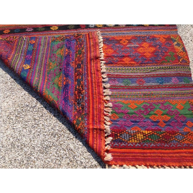 Vintage Turkish Kilim Rug - 5′8″ × 9′11″
