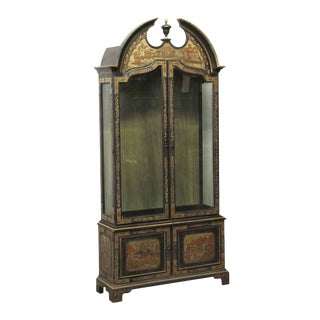 Oriental Style Wooden Cabinet For Sale