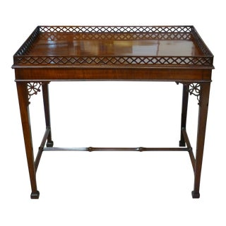 Late 18th Century Vintage English Mahogany George III Tea Table For Sale