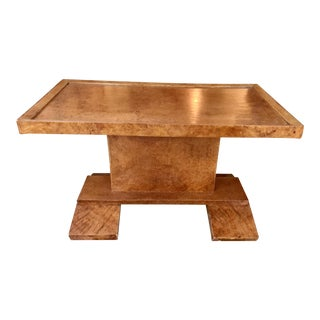 1940s Modern European Burl Wood Side Table For Sale