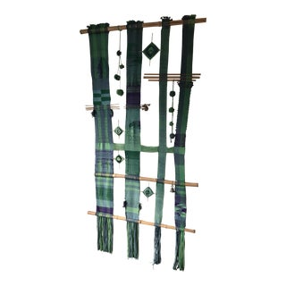 Textile Wall Hanging by Bay Area Artist Irene Lagorio (1921-1994) For Sale