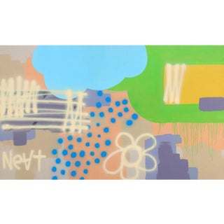 "Acrylic Painting on Panel Titled: ""Looks Like Rain"" For Sale"