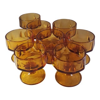 Indiana Glass Norveau Pattern Dessert Cups - Set of 8