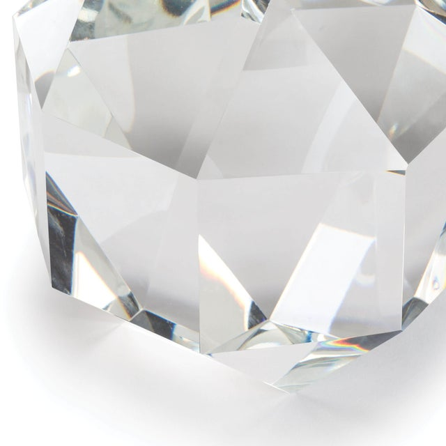 Traditional Crystal Octahedron Large For Sale - Image 3 of 5