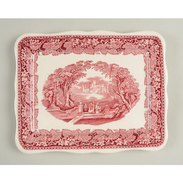 Mid 20th Century Mason's Vista Pink Large Cheese Dish With Lid For Sale - Image 5 of 8