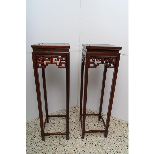 Chinese Rosewood Pedestals For Sale - Image 10 of 13