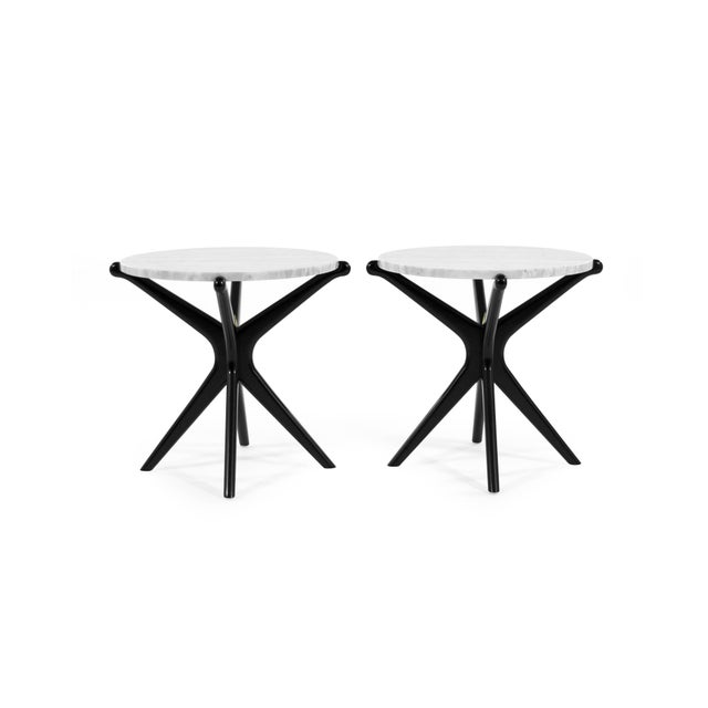 Ebonized Gazelle Side Table For Sale - Image 4 of 8