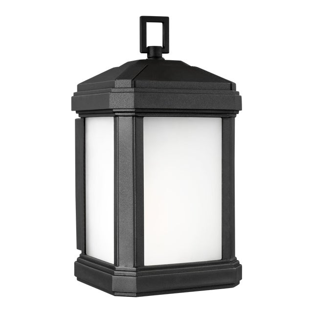 Lynda Small One Light Outdoor Wall Lantern, Black For Sale