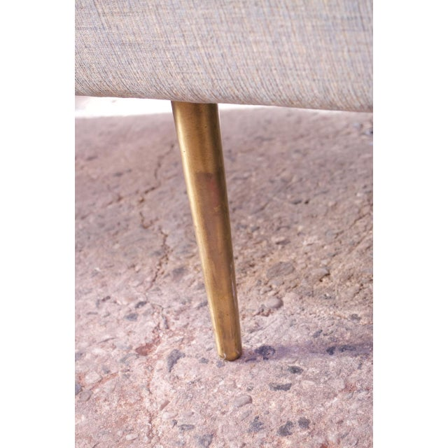 Edward Wormley for Dunbar Sofa With Brass Feet For Sale - Image 12 of 13