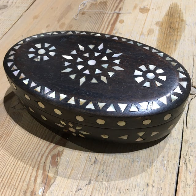 Vintage Moroccan Oval Box - Image 10 of 11