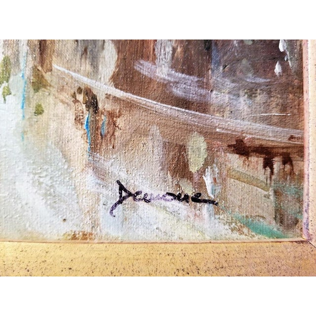 PRESENTING A GORGEOUS Paris Montmarte Oil on Canvas by Demone. Stunning ORIGINAL and AUTHENTIC Oil on Canvas by Listed...