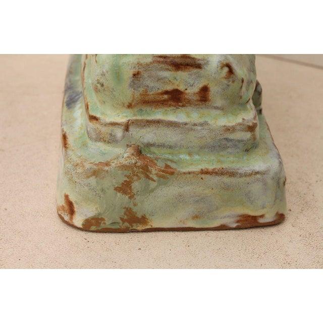 Ceramic Austrian Secessionist Terracotta Figure Signed For Sale - Image 7 of 11