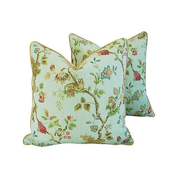 Italian Scalamandre Fleur Des Indes Pillows - Pair - Image 7 of 11