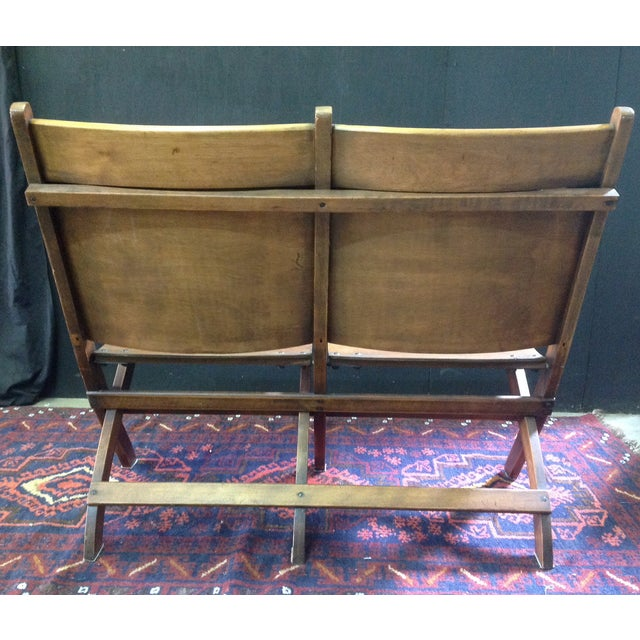 Vintage Wooden Theatre Seats - Image 4 of 6