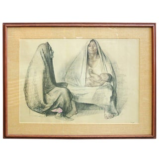 "Francisco Zuniga ""Dos Mujeres Sentadas"" Signed For Sale"
