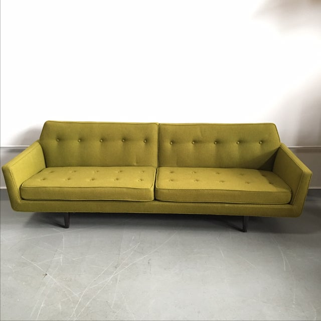Edward Wormley for Dunbar Green Bracket Sofa - Image 2 of 7