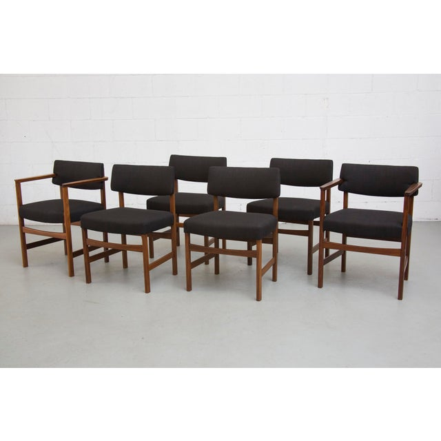 Masculine Danish Mid-Century Dining Chairs - 6 - Image 2 of 11