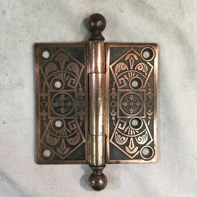 Antique Victorian Eastlake Polished Iron Door Hinge For Sale - Image 9 of 9