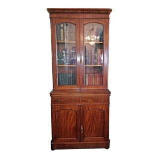 19c British William IV Mahogany Bookcase of Neat Proportions