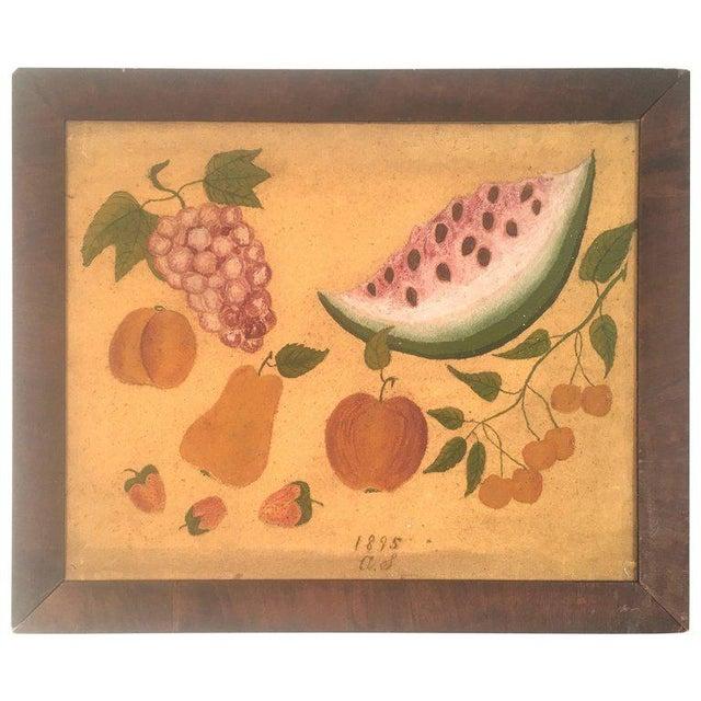 American Folk Art Fruit Still Life Painting, circa 1895 For Sale - Image 11 of 11