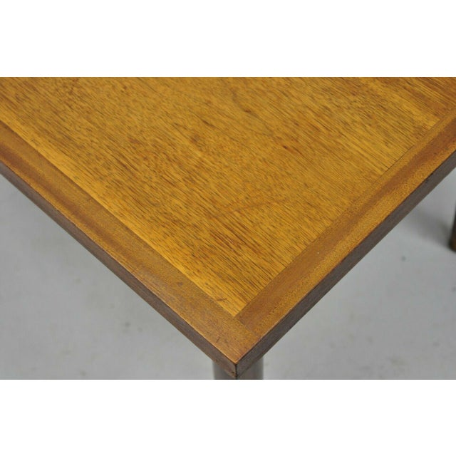 Wood Mid Century Modern Walnut Rectangular Side Table For Sale - Image 7 of 11