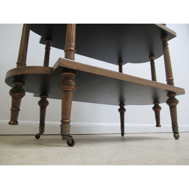 Neoclassical 3 Tiered Paint Decorated Lamp End Table For Sale - Image 9 of 9